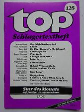 TOP Schlagertextheft Nr 125, SADE,  Al Corley