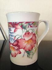 "STAFFORDSHIRE TABLEWARE China Tea Coffee Mug, Floral, 4"" High Exc Cond"