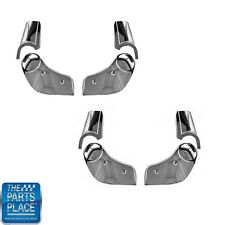 1981-88 Cutlass Seat Hinge Cover Sets W/ Reclining Bucket Seats 8 Piece - Chrome