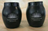 Lot Of 2 Casamigos Tequila Mezcal Mug Cantaritos Ceramic Cups 14 oz Black