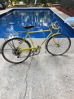 Vintage Schwinn Collegiate Bicycle Bike Yellow