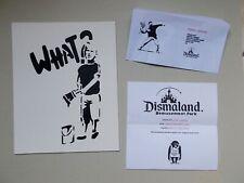 """Dismaland Souvenir """" What ? """" Peinture sur Carton entoilé  d'aprés Banksy"""