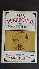 Max Beerbohm Letters to Reggie Turner Rupert Hart-Davis HCDJ 1965 First Edition