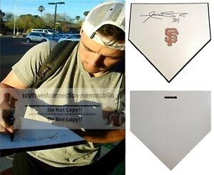 Andrew Susac S.F. Giants Signed Baseball Home Plate Base Exact Proof Autograph