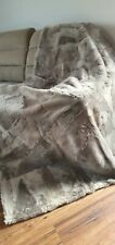 Double Bed Cover Sofa Blanket  TOSCANA  Wool Shearling Sheepskin Rug 160x200cm