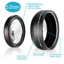 Neewer 52MM 0.43X High Definition Wide Angle Lens with Detachable Macro lens