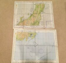 "1953 U.S. Air Force Aeronautical Map *JAPAN-SADO Island*Mt. FIJI*color 56"" x24"""