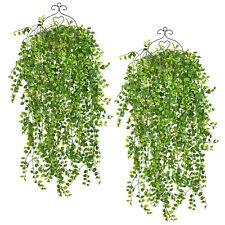 2pcs Artificial Plant Rattan Fake Flowers Faux  Plastic Plant Garden Home Decor