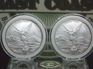 (Lot of 2) 2012 Mexican Libertad 1oz Silver .999 Ley BU In Capsule ECC&C, Inc.