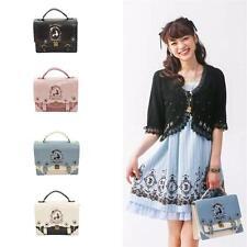 Alice in Wonderland Womens Lolita Handbag Purse Backpack PU Leather Shoulder Bag