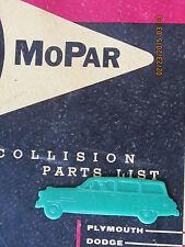 """NOS 1950's 1954 Plymouth Suburban Wagon Plastic Car Book mark 4"""" MoPar Dealer"""