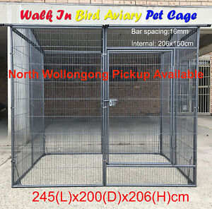 Walk In 206cm Pet Bird Cage Parrot Cockatoo Aviary Animal Cage