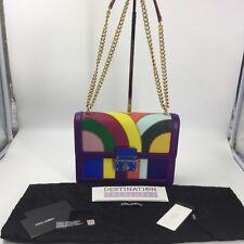 c51d8748a5 Dolce   Gabbana Rainbow Leather Shoulder Bag Chain Strap Excellent  3