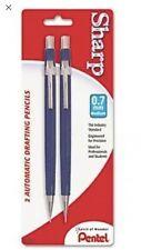 2 Pack Sharp Mechanical Drafting Pencil, 0.7 mm, Blue Barrel