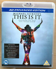 Michael Jackson 3D Blu-ray This Is It Enhanced Edition Pop Music Performance