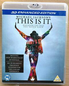Michael Jackson 3D Blu-ray This Is It Enhanced Edition Pop Music Performance
