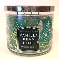 1 VANILLA BEAN NOEL BATH & BODY WORKS 14.5 OZ SCENTED 3-WICK LARGE CANDLE NEW