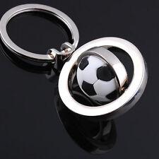 Rotating Football Soccer Keychain Keyring Key Chain Ring Key Fob Ball Gifts