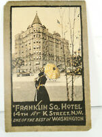 Franklin Square Hotel Washington DC Vintage Postcard