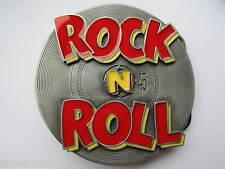Rock and roll belt buckle the rocker rockabilly.