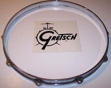 "Gretsch USA Snare Drum Hoop 14""  10 Hole Batter Side Chrome Die Cast Zamac USA"