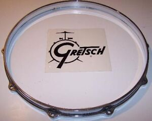 "Gretsch USA Snare Drum Hoop 14""  10 Hole Snare Side Chrome Die Cast Zamac USA"