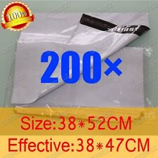 200 380 x 520mm Poly Courier Plastic Bag Mailer Mailing Satchel self seal