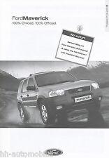 LISTINO prezzi FORD MAVERICK 1.8.01 AUTO LISTINO PREZZI 2001 auto PKW dotazione