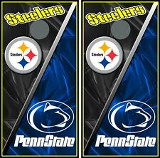 Steelers & Penn State Hd 097 custom cornhole board vinyl wraps stickers posters