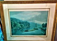 Vintage Print Clifden Spring & Woods Drawn  William Havell Engraved  R. Havell