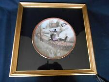 FRAMED Buckley Moss Ltd Collector Plate SUNDAY OUTING  NEW w/Certificate