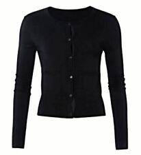 'B.You' Fine Knit Button Cardigan Black Size S BNWT