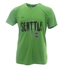 Seattle Sounders FC MLS Adidas Kids Youth Girls Size Climalite Athletic Shirt