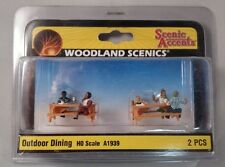 Woodland Scenics Figures - HO Scale Outdoor Dining #1939 Model Train People New