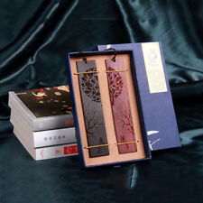 New Hot 1Pair Classical Chinese Wood Bookmarks Vintage Design Lovers Gifts Box