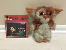 GREMLINS 1984 PLUSH FIGURE GIZMO AND A SEALED NEW BOOK & RECORD READ-ALONG
