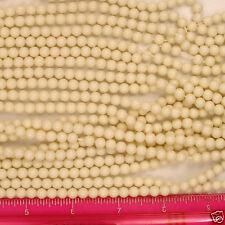 """Japanese Ivory Finish Acrylic Pearl Style Beads 6mm 60"""" Strand"""