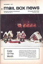 Vintage Cake Magazine Mail Box News November 1977 Maid of Scandinavia