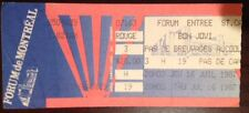 BON JOVI-Concert Ticket Stub-July 16, 1987-Montreal-Forum-Slippery When Wet Tour
