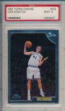 Dirk Nowitzki Mavericks 1998-99 Topps Chrome #154 Rookie Card rC PSA 9 Mint QTY