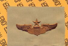 USAF Air Force Senior Pilot Aviation desert Brown wing cloth patch