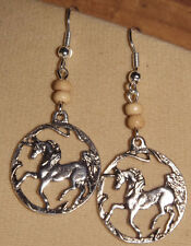 Horse Earrings - Silver tone Pendant PARTY Jewellery - Gift!