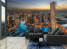 Skyline Buildings Dubai Marina City Photo Wallpaper Wall Mural Giant Wall Decor