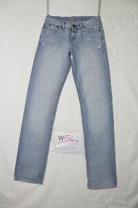Replay Destroy Strappato D'Occassion (Cod.W544) W27 L34 Jeans Femme Vita Faible