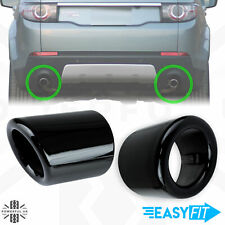 2 Exhaust tips upgrade Gloss Black for Land Rover Discovery Sport tailpipe