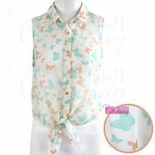 Collared Blouses for Women Butterfly