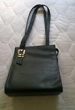Vintage 1990s Ladies Black Faux Leather/Shoulder/Work/Smart Casual Hand Bag Used
