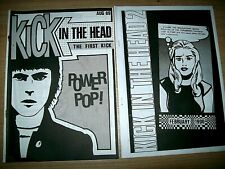 KICK IN THE HEAD MODZINE ISSUE 1 AND 2 MOD REVIVAL FANZINE PAUL WELLER