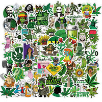 100pcs Weed Leaves Stickers Smoking Graffiti for Skateboard Luggage Laptop USA!
