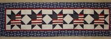 INSTRUCTIONS ONLY-Flags in stars Patriotic quilted table runner pattern July yr2